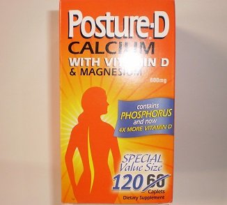 Image 0 of Posture D 600 Mg Calc/D Mag 120 Tablet