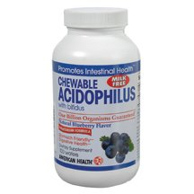Acidophilus Chewable Blueberry 100 Waf By American Health