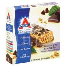 Advantage Bar C/Chip Gran 5 x 1.6 Oz By Atkins