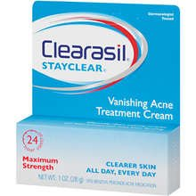 Clearasil Daily Acne Control Vanishing Acne Treatment Cream 1 oz