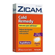 Zicam Cold Remedy Rapid Melts Cherry Tablets 25 Ct
