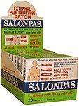 Salonpas External Pain Relieving Patches 10x20 Ct.