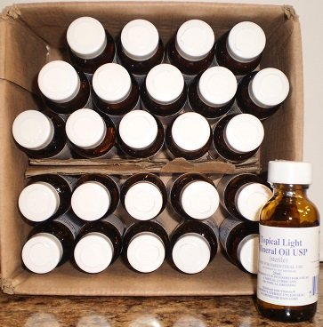 Image 1 of Mineral Oil Topical Light Sterile 25X25 Ml
