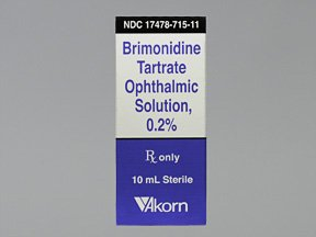 Brimonidine Tartrate 0.2% Drops 10 Ml By Akorn Inc.