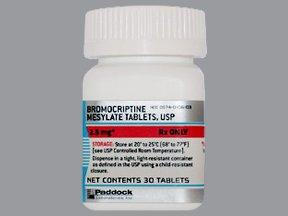 Bromocriptine Mesylate 2.5 Mg Tabs 30 By Perrigo Pharma.
