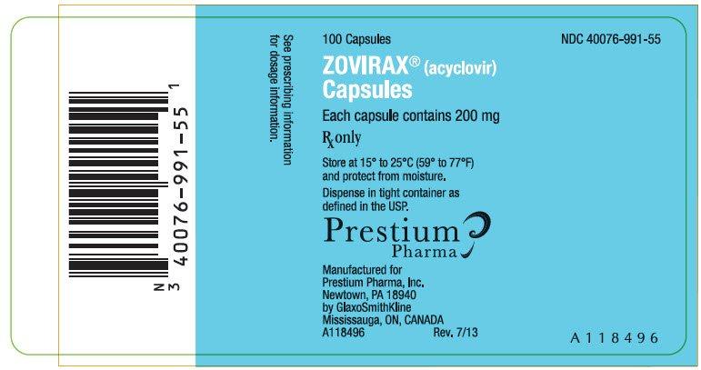 Zovirax 200 Mg/5Ml Suspension 473 Ml By Prestium Pharma