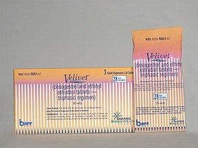 Velivet 28 Days 0.1/0.025 Mg 3x28 Tabs By Teva Pharma