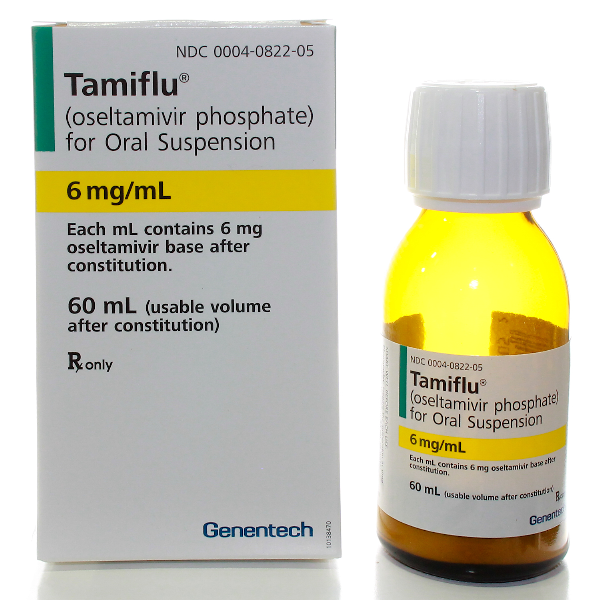 Tamiflu 6Mg/Ml Oral Suspension 60 Ml By Roche Labs.
