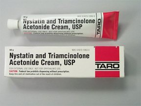 nystatin and triamcinolone acetonide cream is for