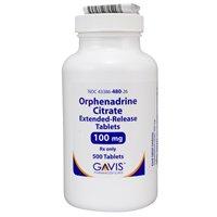Prescription Drugs-O - Orphenadrine Citrate - Orphenadrine
