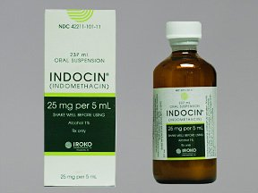 Indocin 25mg/5ml Suspension 237 Ml By Iroko Pharma