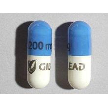 Emtriva 200mg Caps 1X30 each Mfg.by: Gilead Sciences Inc USA.