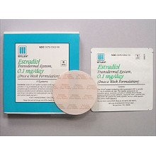 Image 0 of Estradiol Transdermal System 0.1mg/24hr Patches 4 By Mylan Pharma