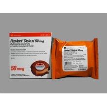 Flovent Diskus 50mcg Inhaler 1X60 each Mfg.by:Glaxo Smithkline USA.