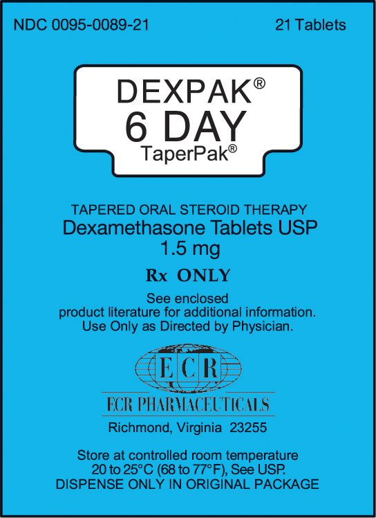Dexpak 6 Day 1.5mg Tablets 1X21 each Mfg.by: E C R Pharmaceuticals USA Unit Dos