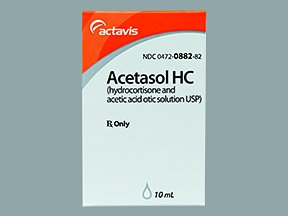 Acetasol Hc 2-1% Drops 10 Ml By Actavis USA.