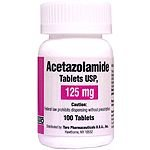 Acetazolamide 125 Mg Tabs 100 By Taro Pharma.