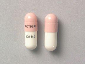 Actigall 300 Mg Capsules 100 By Actavis Pharma.