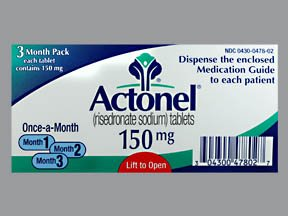 Actonel 150 Mg Tabs 3 By Actavis Pharma.