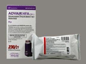 Advair HFA 230-21 Mcg Arin 12 Gm By Glaxo Smith Kline.