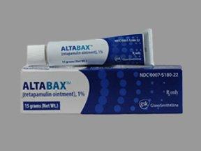 Altabax 1% Ointment 15 Gm By Glaxo Smithkline.