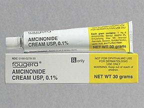Amcinonide 0.1% Cream 30 Gm By Fougera & Company.