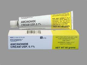 Amcinonide 0.1% Cream 60 Gm By Fougera & Company.