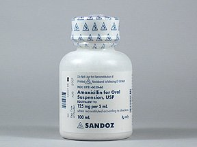 Amoxicillin 125-5 Mg-Ml Suspension 100 Ml By Sandoz Rx.