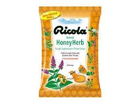 Ricola Herbal Throat Drops Honey Bag Lozenges 24