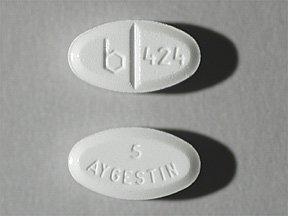 Aygestin 5 Mg Tabs 50 By Teva Pharma.