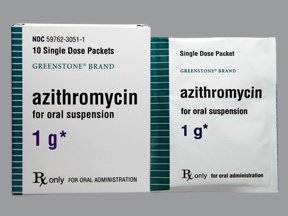 Azithromycin 1 Gm Packets 10 Ct By Greenstone Ltd.
