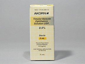 Timolol 0.5% Oph  Drops 5 Ml By Akorn Inc.