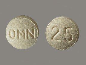 Topamax 25 Mg Tabs 60 By J O M Pharma.