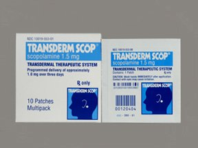 Transderm Scop 1.5 Mg Patches 10 By Baxter Acc