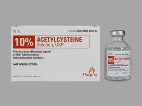 Acetylcysteine 100 Mg/Ml 10% 3X30 Ml By Hospira Worldwide