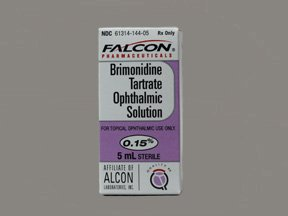 Brimonidine Tartrate 0.15% Drops 5 Ml By Sandoz Falcon.