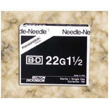 BD Needle General Reg Bevel 1.5  22 G 100 Ct By Bd Inc.