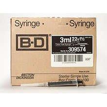 BD Luer Lok 1.5  22Gx3Ml 100 Ct By Bd Inc.