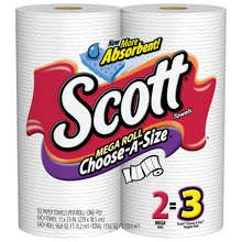 Scott Towel Mega Roll 2Pack 12X102Each