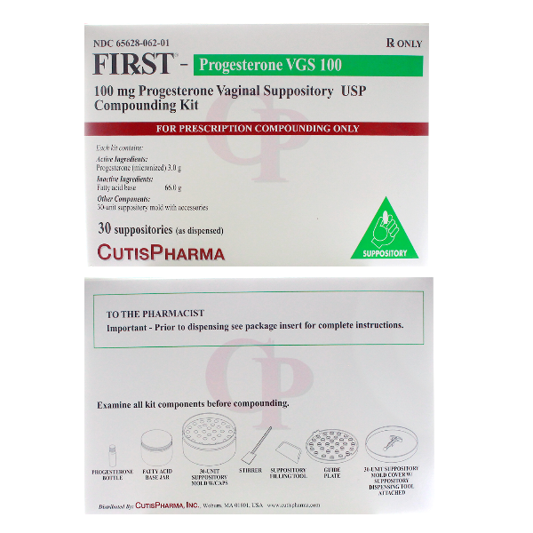 First Progest Vgs 100 Mg Suppository 30 By Cutis Pharma.