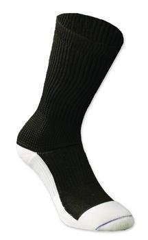 Diabetic Crew Sock Black Small Each