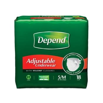 Depend Rfst Underwear Small -Md Pack of 18