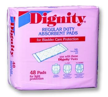 Dignity Pads Sngl Reg Absorbent Case of8