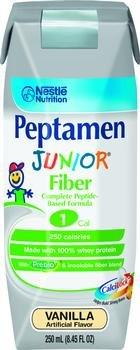 Image 0 of Peptamen Jr W-Fiber Vanilla 8 oz Case of 24