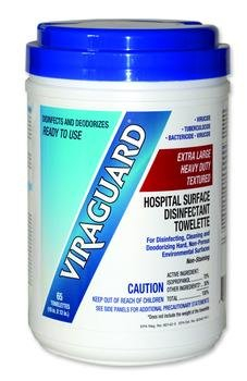 Viraguard Surface Wipe 10X12 Box of 65