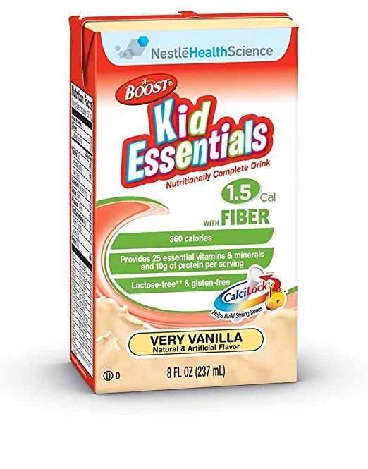 Boost Kid Essentials With Fiber Liquid Vanilla 27 x 237ml