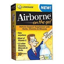 Airborne on the go 10 each Lemon Lime