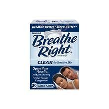 Breathe Right Clear Large 30 Ct