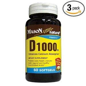 Image 0 of Mason Vitamin D 1000 Units Softgels 60 Each