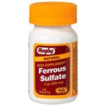Ferrous Sulfate Mfg. By Rugby Laboratories 325 mg Iron Supplement Red Tablets